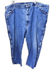 Dickies Mens 50 X 30 Carpenter Jeans Relaxed Fit Cotton Denim Classic Rise Blue
