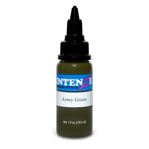Army Green - Intenze Tattoo Ink - Pick Your Size 1oz, 2oz, or 4oz Bottle