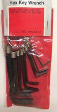 10 Piece Standard Hex Key Wrench Set 1/16 - 3/8