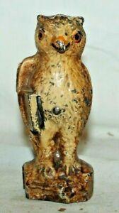 "RARE BEAUTY 1925 vintage KILGORE ""BLINKY THE OWL"" CAST IRON MECHANICAL COIN BANK"