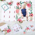 Milestone Photography Newborn Baby Blanket Monthly Flowers Numbers Photo Prop