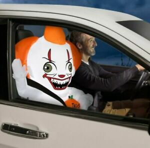 IT Clown Pennywise Car Buddy Halloween Inflatable Halloween LED Airblown 3 ft