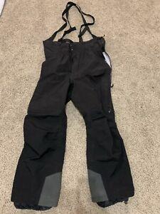 Arcteryx Black Goretex Made In Canada Ski Snowboard Snow Shell Pants Mens XL Bib