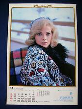 1969 Virna Lisi Japan VINTAGE calendar POSTER VERY RARE