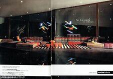 PUBLICITE ADVERTISING 116  2013  Roche Bobois (2p)  habillés Sonia Rykiel maison