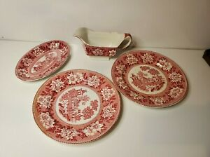 REPRODUCTION OF ROGERS 1780 LOT OF PLATES & OVAL PLATE & GRAVY BOAT