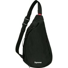NEW IN BAG WITH TAG SUPREME SLING BAG FW20 BLACK BOX LOGO CORDURA SHOULDER DS