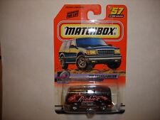 1999 MATCHBOX VW VOLKSWAGEN TRANSPORTER VAN BUS BLACK RICHIE'S PIZZERA 57 of 100