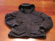 EX $550 SPYDER Thinsulate down hooded MATT BLACK Moto style SKI JACKET WOMENS L
