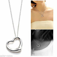 Silver Plated heart Love Chain Fashion Necklaces & Pendants