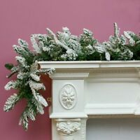 18m Snow Effect Christmas Garland | Indoor Home Seasonal Decoration