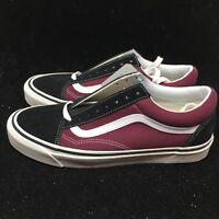 Vans Men's Shoes Anaheim Factory Old Skool 36 DX Black/OG Burgundy VN0A38G2R1U