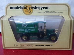 Matchbox Models of Yesteryear - Y25 1910 Renault Type AG Van - Perrier