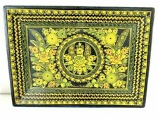 More details for mexican folk art lacquered wooden tray by pascual pantaleon navarro 14