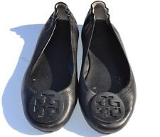 Tory Burch Minnie Travel Black Leather Ballet Flats Size 6