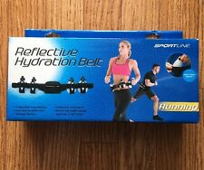 Sportline Running Reflective Hydration Belt with 4 Mini-Water Bottles