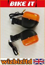 Bikeit Black E-Marked Flexi-Stem Universal Indicators with Amber Lens INDUFL014