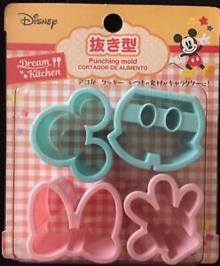 Disney Dream Kitchen Mickey Mouse Minnie Plastic Punching Cutter Mold Daiso New