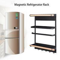 Magnetic Fridge Side Shelf Rack Hook Storage Holder Portable Kitchen Organizer