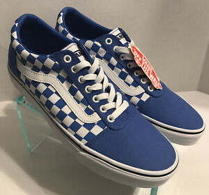 Vans Ward Low Checkerboard Nebulas Blue White Skate Shoes 500714 Men's Size 11.5