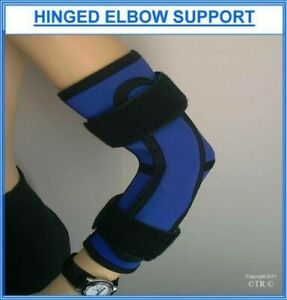 Proline Hinged Elbow Brace Blue Neoprene Medical Arm Support Protection Gear New