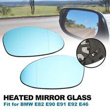 Fit for BMW E90 E91 E92 E93 E81 E82 E87 E88 E46 Mirror Glass Heated Blue 2pcs