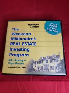 THE WEEKEND MILLIONAIRE'S REAL ESTATE INVESTING PROGRAM 8 CD's + pdf workbook