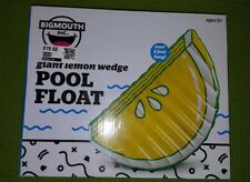 Big Mouth Inc Lemon Slice Inflatable Swimming Pool Float Mat - Yellow