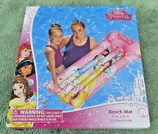 Disney Princess Inflatable Pool Beach Mat Floating Raft  Belle Aria Jasmin - NIB