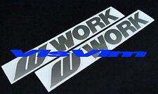 Work Stickers Decals Wheels WRX Evo Civic Integra Free Shipping x 2