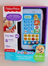 "Fisher-Price Laugh & Learn Blue ""Leave a Message"" Smart Phone Toy Music & Sounds"