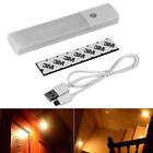 6 LED USB Rechargeable Wireless Motion Sensor Nightlight Cabinet Wall Lamp Light