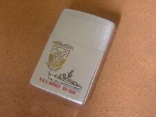 Vintage Zippo Lighter ..... USS Barbey ..... DE 1088 ..... Plank Owner