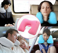 Inflatable Soft Car Travel Head Neck Rest Air Cushion U Pillow Sleep Cushion