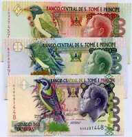 ST. THOMAS & PRINCE SET  UNC 5000 10000 20000 Random Date P 65 66 67 Sao Tome