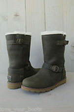 UGG NOIRa PINE NEEDLE  LEATHER  WOMENS BOOT US 6 UK 4.5 EU 37 BRAND NEW