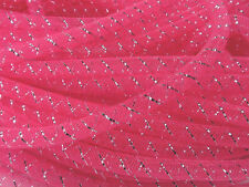 "Mini Non Metallic Neon Pink w/ Silver Thread Tubular Crin Cyberlox 1/4"" 10 Yards"