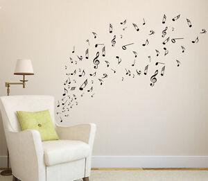 Music Musical Melody Note Wall Stickers, Home DIY Wall Art Vinyl Window Sticker