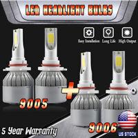 Combo 9005+9006 3000W 450000LM CREE LED Headlight Kits High Low Beam 6000K White