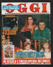 OGGI 1-2/1992 AL BANO ROMINA POWER MADONNA LUKE PERRY FALLACI REZA CIRO PARISI