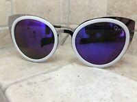 Quay Australia Sunglasses Women's Girly Talk Purple/White NWT Incl. Soft Case