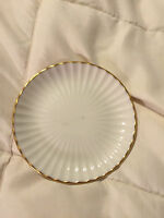 VINTAGE LENOX GOLD ROUND SMALL FINE CHINA PLATE DISH!