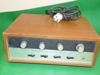 TELETON SOLID STATE Stereo Amplifier Amp Vintage BROWN Wooden GA-101 Untested