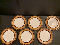 "Casual Victoria Beale Renaissance 9051 Fine Translucent 6 Dinner Plates 10.7"""