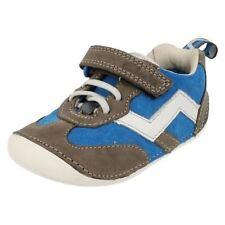 Chaussures décontractées bleus à lacets en cuir pour garçon de 2 à 16 ans