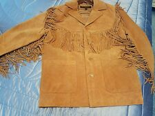 MEN'S WESTERN SUEDE LEATHER JACKET WITH FRINGE