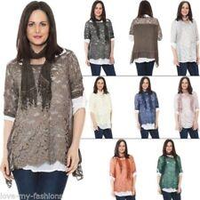 Camisas y tops de mujer blusa de color principal multicolor 100% algodón