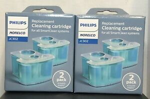 Philips Norelco SmartClean Replacement Cleaning Cartridge System JC302 2 2-Packs