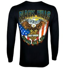 1b928ff6 Black Hills Harley-Davidson Men's Patriot Black Long Sleeve T-Shirt