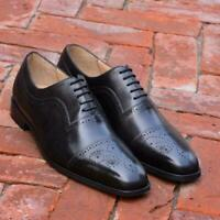 Handmade Men's Black Heart Medallion Dress/Formal Oxford Leather Shoes